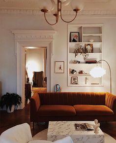 Town House of Lauren MacLean My Living Room, Home And Living, Living Room Decor, Living Spaces, Home Interior Design, Interior Architecture, Deco Studio, New Room, Interiores Design