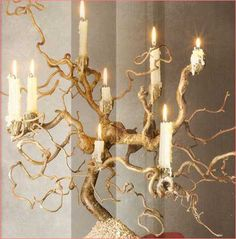 Twisted Wire Tree Branch Candle Holder