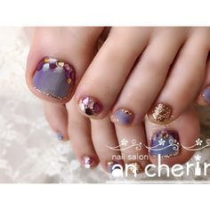 ネイルデザインを探すならネイル数No.1のネイルブック Love Nails, How To Do Nails, Pretty Nails, My Nails, Pedicure Designs, Toe Nail Designs, Pedicure Nails, Manicure, Pedicures