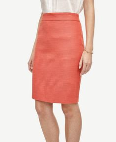 Image of Tall Twill Pencil Skirt