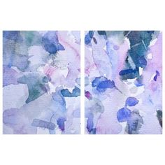 Set of 2 Pastel Petals Canvas Wall Art