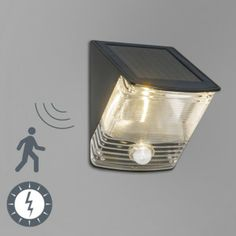Buitenlamp Dark LED met bewegingsmelder op zonne-energie - Lampenlicht.nl