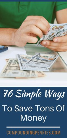 76 Simple Ways To Save A Ton Of Money   if you are looking for easy tips and tricks to save money, this post is for you. Learn many ways you can start using today to cut expenses and save money. Click through to learn more! #SavingMoney #MoneySavingTips #MoneySavingHacks Savings Jar, Savings Planner, Budget Planner, Money Plan, Money Tips, Money Saving Tips, Saving Ideas, Living On A Budget, Frugal Living Tips