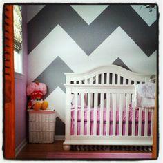 Baby. girl.room. #chevron #penelope