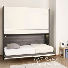 Bunk Beds Small Room, Toddler Bunk Beds, Beds For Small Spaces, Furniture For Small Spaces, Kid Beds, Bunk Bed Ideas For Small Rooms, Space Saving Beds, Space Saving Furniture, Murphy Bunk Beds