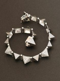 Anita Ko 14k White Gold Triple Diamond Medium Spike Bracelet with 3 Diamond Spikes. Available at London Jewelers. $9,505.00