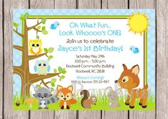 PRINTABLE Woodland Animals Birthday Party by ciaobambino on Etsy