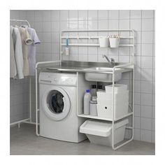 SUNNERSTA Mini-kitchen IKEA you can easily create a practical and inspiring area for cooking, even in a small space. Ikea Laundry, Laundry Room Storage, Small Laundry, Laundry Room Design, Laundry Basket, Laundry Area, Laundry Rooms, Bathroom Storage, Small Bathroom