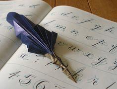 Pluma de origami