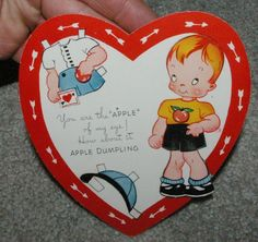 1940's USA Boy Paper Doll Valentine Darling Unpunched | eBay