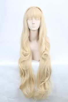 VOCALOID3 Seeu Super Long Golden Blonde Cosplay Wigs,Japan Anime 100cm Long Cos Wig on Etsy, $38.00