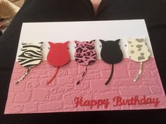 Cats on a Wall using the SU Owl Punch ... so cute!