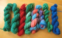 ChemKnits: Space Dyeing to Make Multicolored Yarn