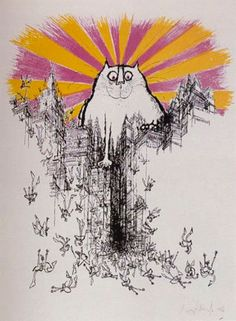 The Coming of the Great Cat God (1968) - Ronald Searle