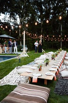 A Romantic Outdoor Wedding Setup for the Chilled Bride