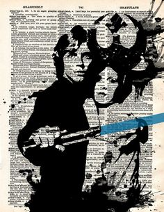 Star Wars Luke Skywalker antiguo Diccionario por WordPlayPrints