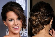 Kate Beckinsale's Many Beautiful Braids and Twists - Do It Yourself - How to Get Hollywood's Best Hairstyles at Home - StyleBistro