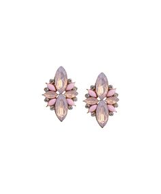 17e6f1a58 Dont AsK Pink Crystal Floral Stud Earrings | zulily . $8.49 $50.00 Product  Description: Pink