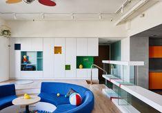 HAO design organizes apartment in taiwan around 'LEGO play pond'