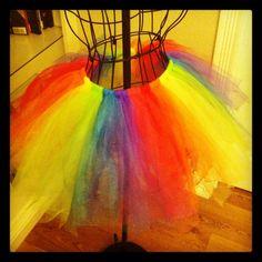 Rainbow tutu #tutu #diy #rainbow