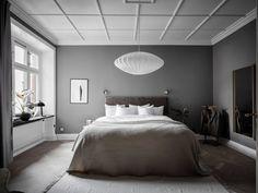 Contemporary Living and Bedroom Furniture for Stylish Homes Gray Bedroom Walls, Bedroom Furniture, Brown Furniture, Grey Wall Color, Dark Grey Walls, Scandinavian Apartment, Piece A Vivre, Dream Decor, Home Decor Inspiration