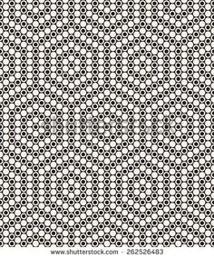 Vector seamless pattern. Modern stylish texture. Repeating geometric tiles with dotted hexagons. Contemporary graphic design. Minimalistic geometric background: