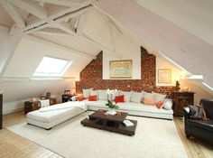9 Friendly Clever Tips: Attic Layout Garage finished attic built ins.Attic Ladder Trim attic renovation on a budget. Attic Apartment, Attic Rooms, Attic Spaces, Apartment Therapy, Attic Renovation, Attic Remodel, My Living Room, Home And Living, Attic House