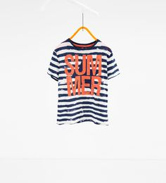 Image 1 of Striped summer T-shirt from Zara