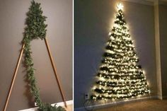 Space-saving Xmas tree decoration sends mums wild as kids can't knock it over Mums rave about space-saving Christmas tree wall decoration kids can't knock over & say it's BETTER than a real on Wall Hanging Christmas Tree, Diy Christmas Tree, Christmas Manger, Christmas Ornaments, Diy Ornaments, Angel Ornaments, Christmas Christmas, Christmas Cookies, Christmas Wreaths