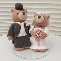 Bride And Groom Bears Cake Topper