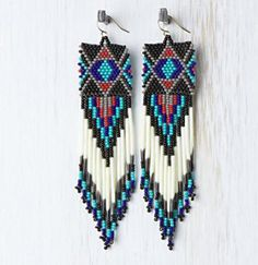 native american beaded earring pics - Google Search