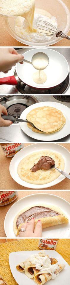 Nutella Crepes Supreme Secret Recipe - breakfast, crepes, food recipe, recipes