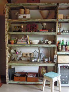 decoración vintage en una estanetria
