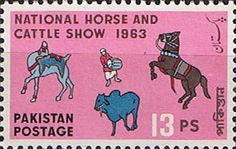 Pakistan Stamps 1963 National Horse and Cattle Show Fine Mint SG 183 Scott 175 Other Asian and British Commonwealth Stamps HERE!