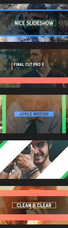 The Nice Slideshow Final Cut Pro X and Apple Motion template is a great project for creating amazing animated videos with ease. This well designed, well structured template contains 18 photo / video dropzones, 18 text placeholders, 1 logo placeholder, 1 closing text, and a color control panel to easily change the colors as you need. Grab attention of your audience with this great FCPX and Apple Motion template. Main Features - Full HD Resolution -... Motion 5, Final Cut Pro, 1 Logo, Happy Design, Control Panel, Finals, Change, Apple, Templates