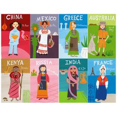 Travel Illustration - Ethnicities - by Lilla Rogers
