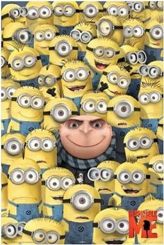 Photo prop??? Maybe make it a 2 part? Lower section of  Minions and then a wall hanging of the top half to make it look like you're standing w/ the minions.