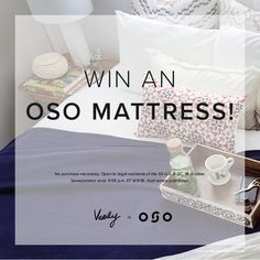 Great sleep starts with a great mattress, and we've paired up with OSO to bring one lucky winner just that.