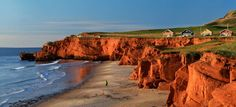 Cliffs of the Dune du Sud beach, Iles de la Madeleine, Quebec, Canada Westminster, Oh The Places You'll Go, Places To Visit, Safari Photo, Quebec City, The Dunes, Archipelago, Canada Travel, Travel Photography