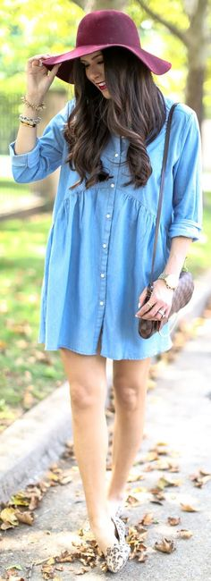 The Perfect Chambray Dress