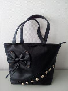 tas met strik en knopen zwart | Tassen | FLASH TRENDS
