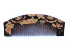 "Edo Period gold Makie boxwood comb ""do my chrysanthemum"" inscription SusumuHitoshi _ 20500 (Wish I had bought this)"