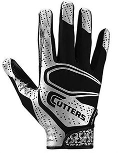 Cutters S60 The ShockSkin Gamer YOUTH Football Gloves NEW Black