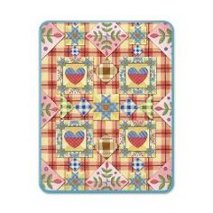Homespun Heart Quilt #iPad Case > Just iPad Cases and Covers > #PatriciaSheaDesigns