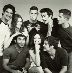 Teen Wolf cast. Tyler Posey Holland Roden Max Carver Charlie Carver Dylan o'brien tyler hoechlin Chrystal Reed Daniel