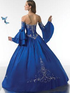 ball gown sweetheart sleeveless beading floor length satin quinceanera dresses royal blue wedding