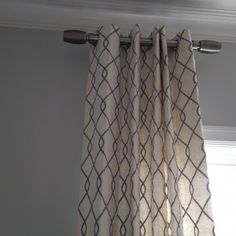 Charming Fabric Drapery With Short Curtain Rods And Crown Molding Also Interior Paint Ideas
