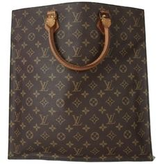 Pre-owned Louis Vuitton Sac Plat Canvas Leather Monogram Tote Bag