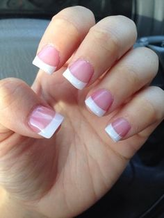 french tip nails - Google Search