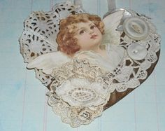 shabby chic heart tag decorations - Google Search